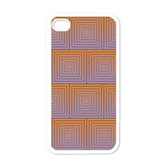 Brick Wall Squared Concentric Squares Apple Iphone 4 Case (white)