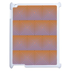 Brick Wall Squared Concentric Squares Apple iPad 2 Case (White)