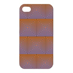 Brick Wall Squared Concentric Squares Apple iPhone 4/4S Hardshell Case