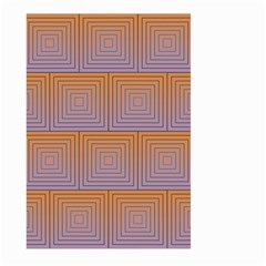 Brick Wall Squared Concentric Squares Large Garden Flag (Two Sides)
