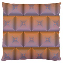 Brick Wall Squared Concentric Squares Large Cushion Case (Two Sides)