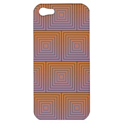 Brick Wall Squared Concentric Squares Apple iPhone 5 Hardshell Case