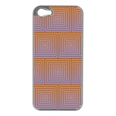 Brick Wall Squared Concentric Squares Apple iPhone 5 Case (Silver)