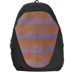 Brick Wall Squared Concentric Squares Backpack Bag