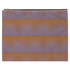 Brick Wall Squared Concentric Squares Cosmetic Bag (XXXL)