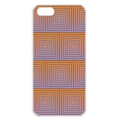 Brick Wall Squared Concentric Squares Apple iPhone 5 Seamless Case (White)