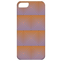 Brick Wall Squared Concentric Squares Apple iPhone 5 Classic Hardshell Case