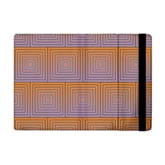 Brick Wall Squared Concentric Squares Apple iPad Mini Flip Case