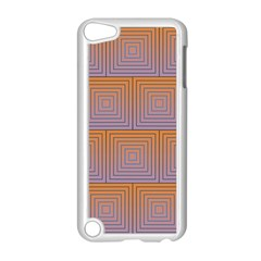 Brick Wall Squared Concentric Squares Apple iPod Touch 5 Case (White)