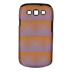 Brick Wall Squared Concentric Squares Samsung Galaxy S Iii Classic Hardshell Case (pc+silicone)