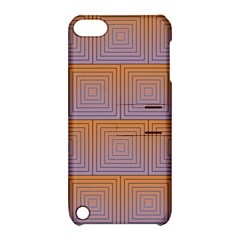 Brick Wall Squared Concentric Squares Apple iPod Touch 5 Hardshell Case with Stand