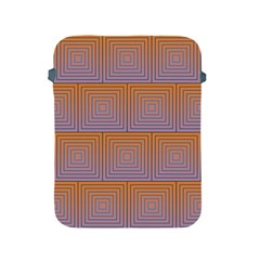 Brick Wall Squared Concentric Squares Apple iPad 2/3/4 Protective Soft Cases