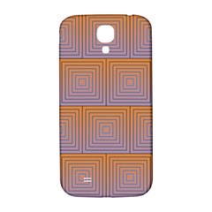 Brick Wall Squared Concentric Squares Samsung Galaxy S4 I9500/I9505  Hardshell Back Case