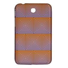 Brick Wall Squared Concentric Squares Samsung Galaxy Tab 3 (7 ) P3200 Hardshell Case
