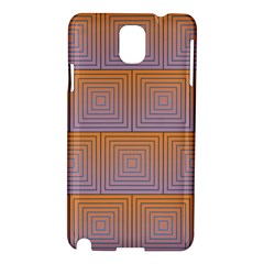 Brick Wall Squared Concentric Squares Samsung Galaxy Note 3 N9005 Hardshell Case