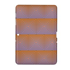 Brick Wall Squared Concentric Squares Samsung Galaxy Tab 2 (10.1 ) P5100 Hardshell Case