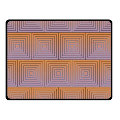 Brick Wall Squared Concentric Squares Double Sided Fleece Blanket (Small)