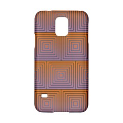 Brick Wall Squared Concentric Squares Samsung Galaxy S5 Hardshell Case