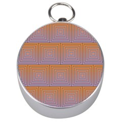 Brick Wall Squared Concentric Squares Silver Compasses