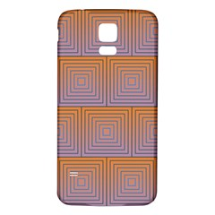 Brick Wall Squared Concentric Squares Samsung Galaxy S5 Back Case (White)