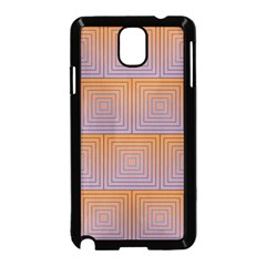 Brick Wall Squared Concentric Squares Samsung Galaxy Note 3 Neo Hardshell Case (Black)