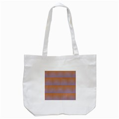 Brick Wall Squared Concentric Squares Tote Bag (White)