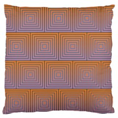 Brick Wall Squared Concentric Squares Standard Flano Cushion Case (Two Sides)