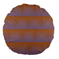 Brick Wall Squared Concentric Squares Large 18  Premium Flano Round Cushions