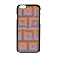 Brick Wall Squared Concentric Squares Apple iPhone 6/6S Black Enamel Case
