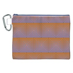Brick Wall Squared Concentric Squares Canvas Cosmetic Bag (xxl)