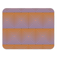 Brick Wall Squared Concentric Squares Double Sided Flano Blanket (Large)