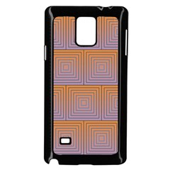 Brick Wall Squared Concentric Squares Samsung Galaxy Note 4 Case (Black)