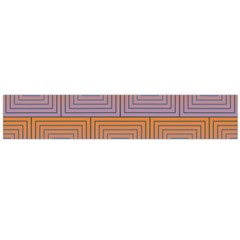 Brick Wall Squared Concentric Squares Flano Scarf (Large)