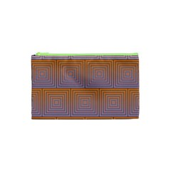 Brick Wall Squared Concentric Squares Cosmetic Bag (XS)