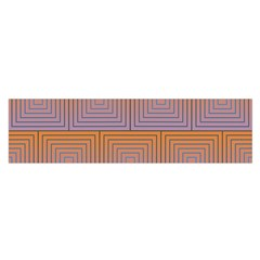 Brick Wall Squared Concentric Squares Satin Scarf (oblong)