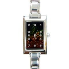 Abstract Glowing Edges Rectangle Italian Charm Watch