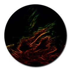 Abstract Glowing Edges Round Mousepads