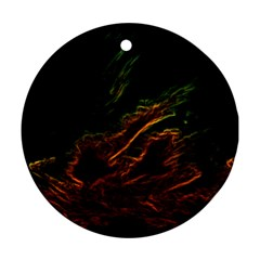 Abstract Glowing Edges Ornament (Round)