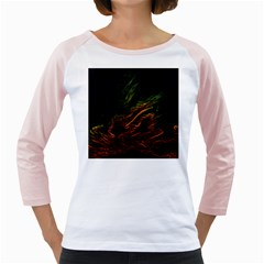 Abstract Glowing Edges Girly Raglans