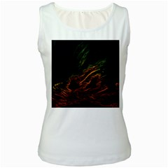 Abstract Glowing Edges Women s White Tank Top