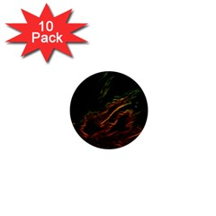 Abstract Glowing Edges 1  Mini Buttons (10 Pack)