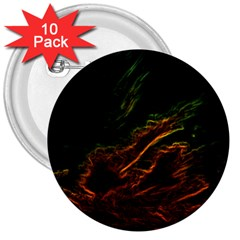 Abstract Glowing Edges 3  Buttons (10 pack)