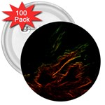 Abstract Glowing Edges 3  Buttons (100 pack)  Front