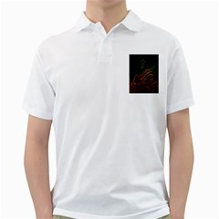 Abstract Glowing Edges Golf Shirts