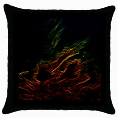 Abstract Glowing Edges Throw Pillow Case (Black)