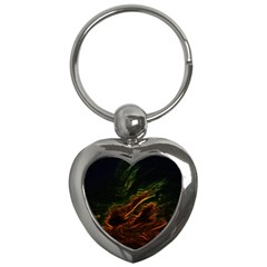 Abstract Glowing Edges Key Chains (heart)