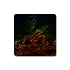 Abstract Glowing Edges Square Magnet