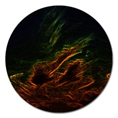 Abstract Glowing Edges Magnet 5  (round)
