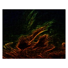 Abstract Glowing Edges Rectangular Jigsaw Puzzl