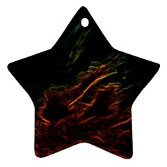 Abstract Glowing Edges Star Ornament (two Sides)